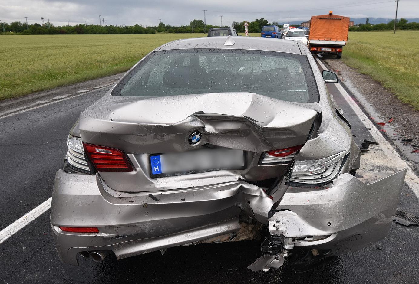 A BMW első útja az új tulajdonosnál, aki vétlen volt a balesetben