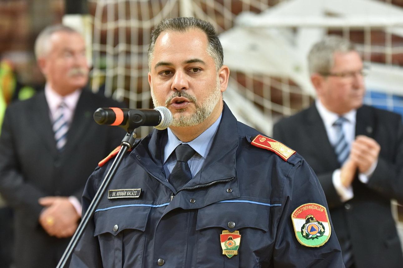 Dr. Bognár Balázs tűo. ezredes a rendezvény megnyitóján