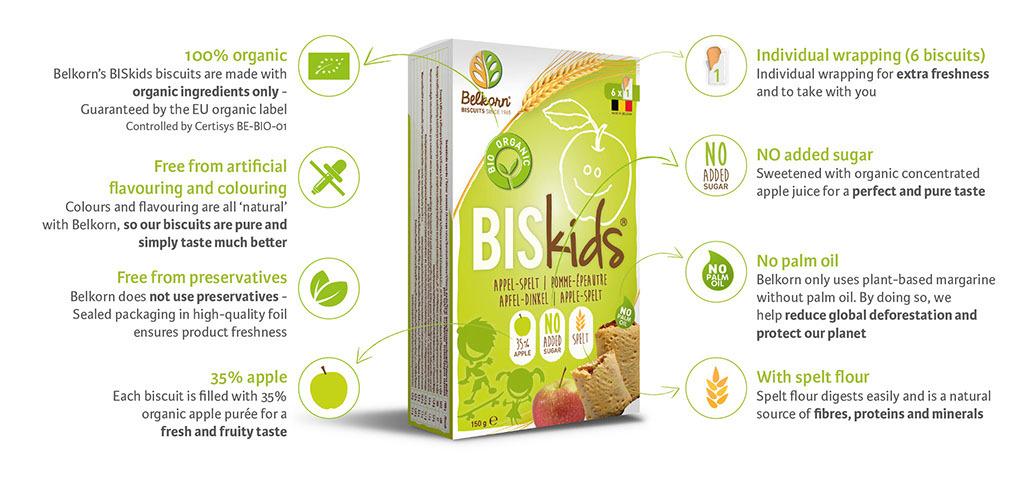 Belkorn Biskids Bio - apple