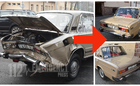 35-year-old Lada is restored to its original beauty after accident in Szombathely